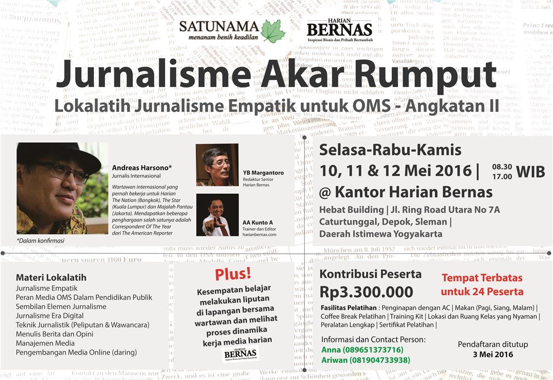 Lokalatih Jurnalisme Empatik Untuk Media OMS Angkatan II